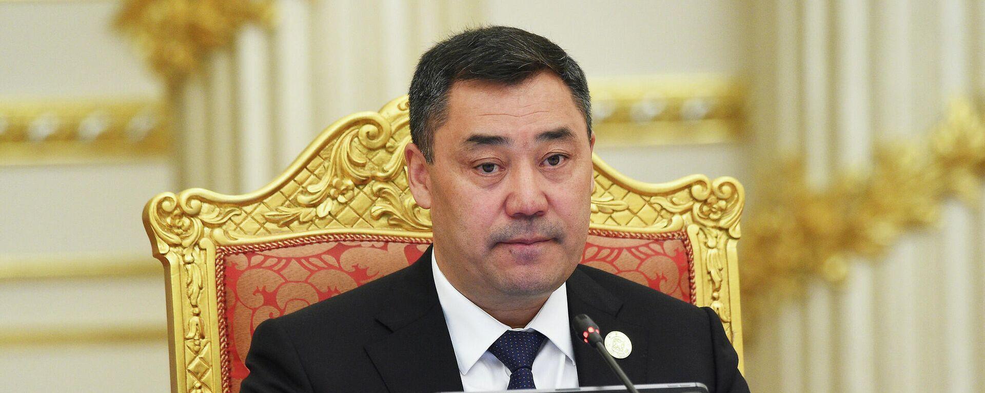 Президент Кыргызстана Садыр Жапаров - Sputnik Таджикистан, 1920, 17.09.2021