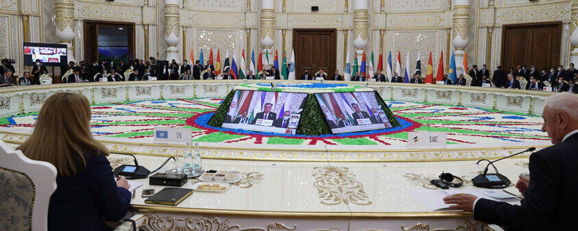 Заседание Совета глав государств Шанхайской организации сотрудничества - Sputnik Таджикистан, 1920, 17.09.2021