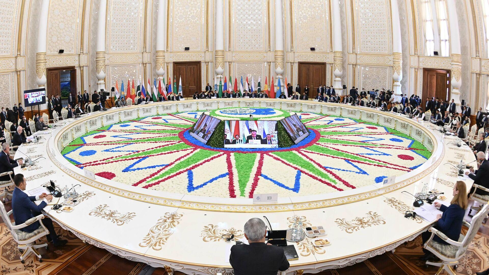 Заседание Совета глав государств Шанхайской организации сотрудничества - Sputnik Таджикистан, 1920, 18.09.2021
