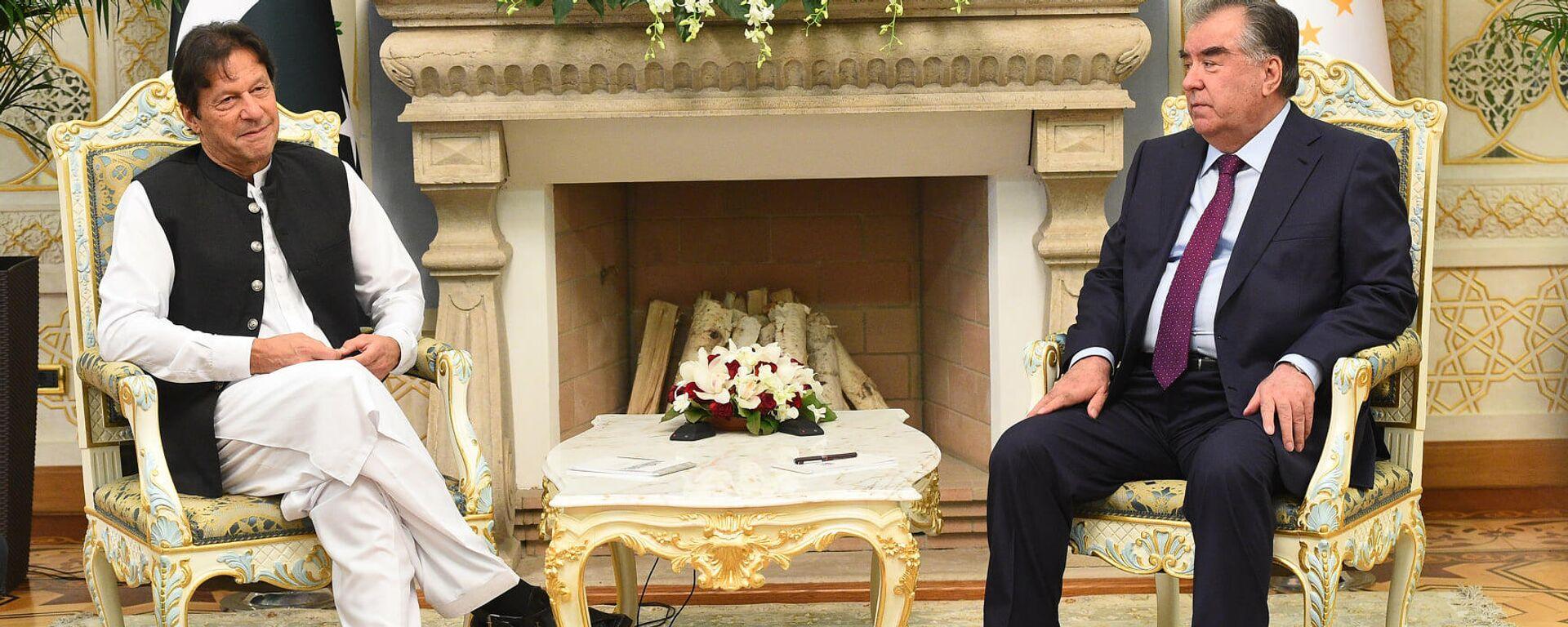 Эмомали Рахмон, президент РТ и Имран Хан Премьер-министр Пакистана  - Sputnik Тоҷикистон, 1920, 18.09.2021