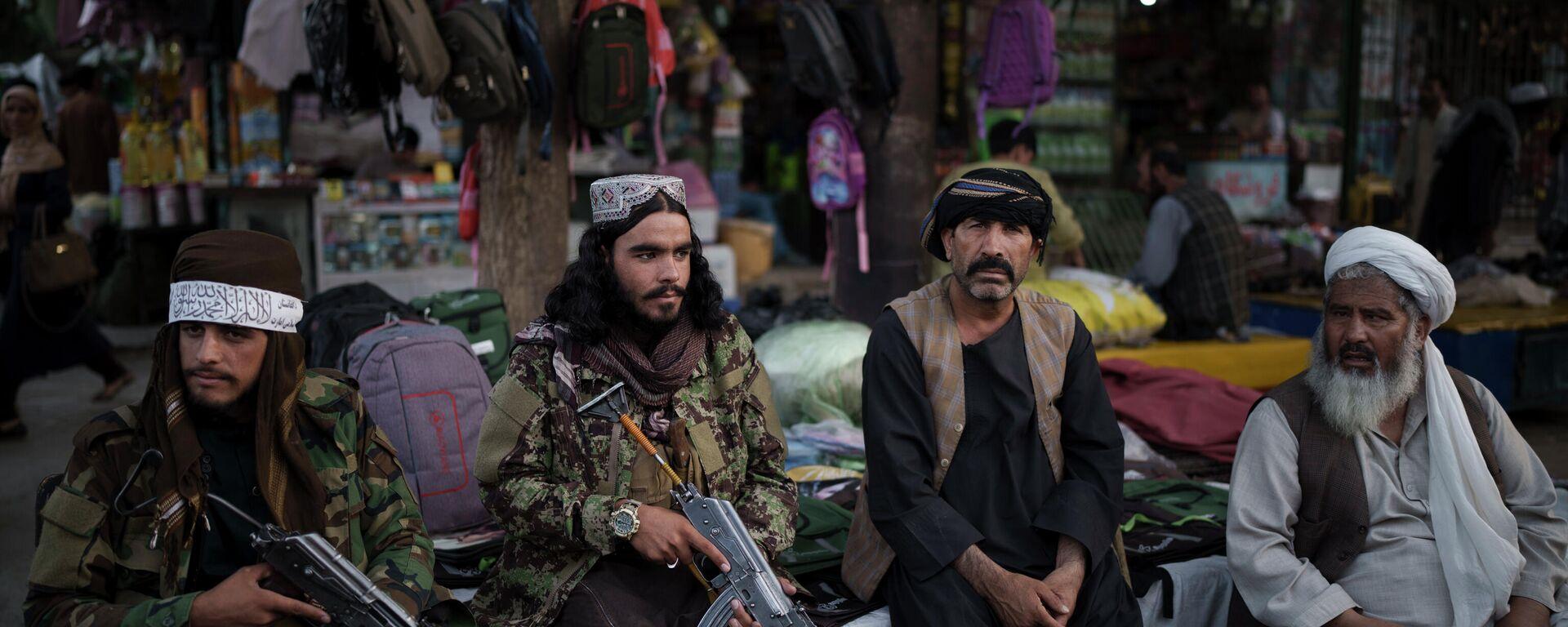 Боевики движения Талибан (террористическая организация, запрещена в России) в Кабуле - Sputnik Таджикистан, 1920, 27.09.2021