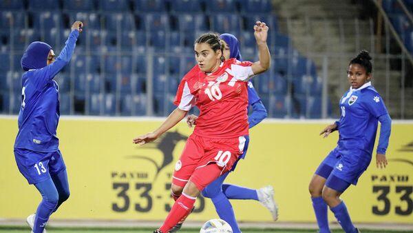 Женская сборная Таджикистана обыграла Мальдивы в отборочном турнире кубка Азии-2022 - Sputnik Таджикистан