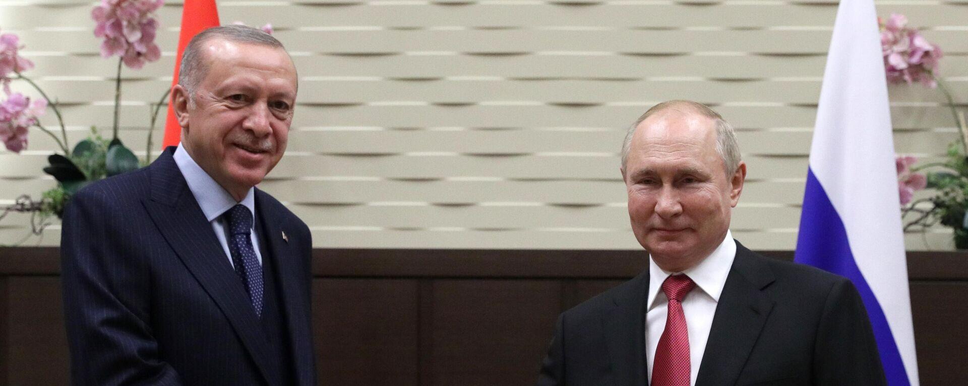 Президент РФ В. Путин провел переговоры с президентом Турции Р. Эрдоганом - Sputnik Таджикистан, 1920, 30.09.2021