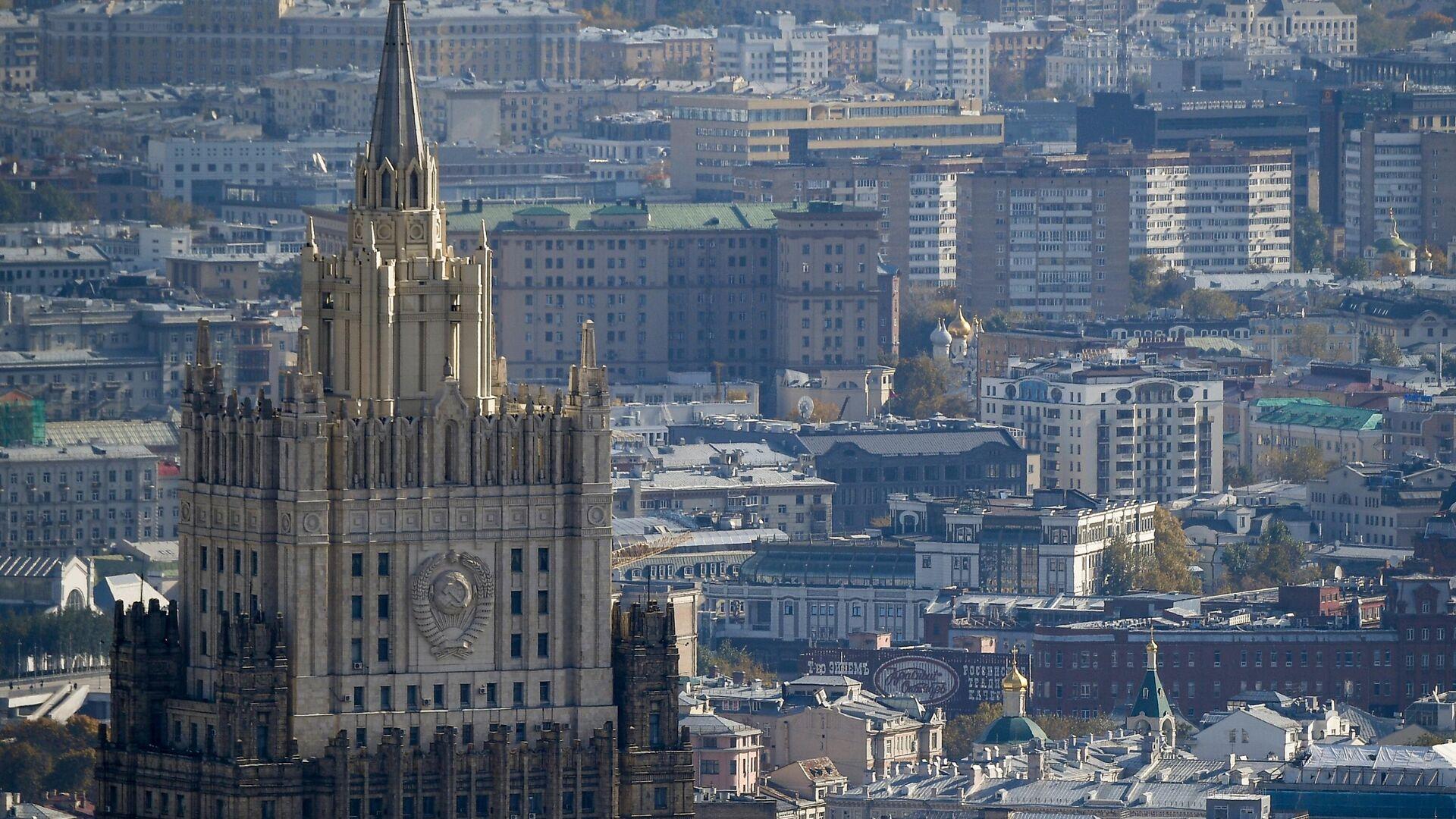 Вид на здание Министерства иностранных дел РФ  - Sputnik Тоҷикистон, 1920, 04.10.2021