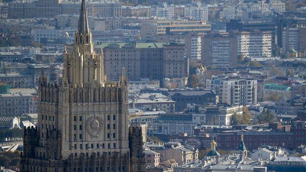 Вид на здание Министерства иностранных дел РФ  - Sputnik Тоҷикистон