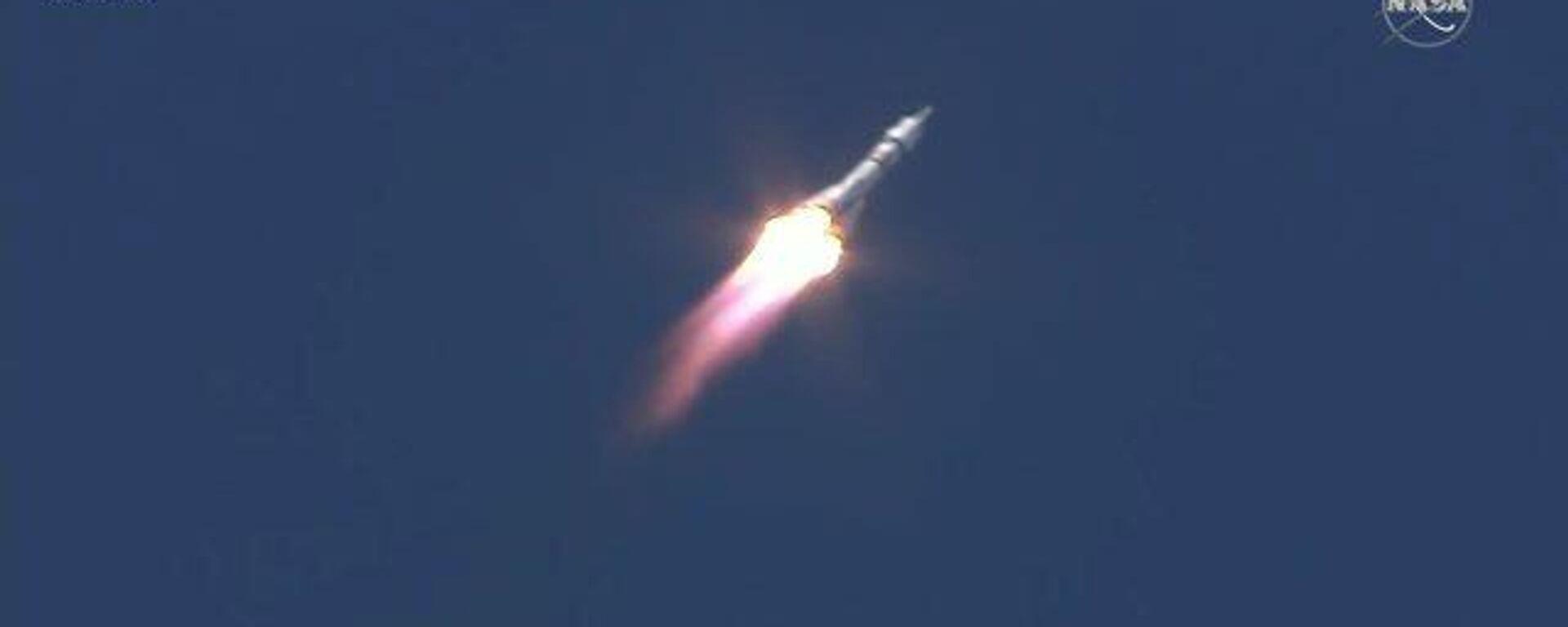 Ракета «Союз-2.1а» с кораблём «Союз МС-19» с первым в мире киноэкипажем  успешно стартовала с космодрома Байконур - Sputnik Тоҷикистон, 1920, 05.10.2021
