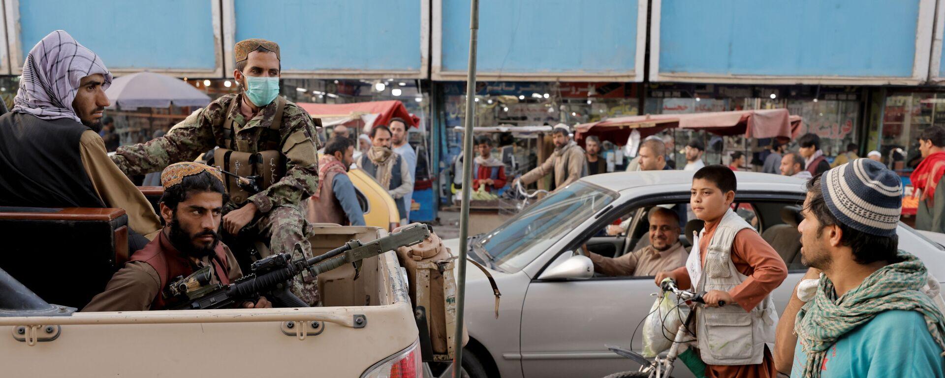 Патруль запрещенной в России организации Талибан на улицах Кабула - Sputnik Тоҷикистон, 1920, 09.10.2021