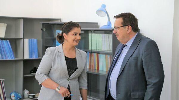 Посол России принял участие в открытии Научно-учебного центра в Институте труда, миграции и занятости населения - Sputnik Таджикистан