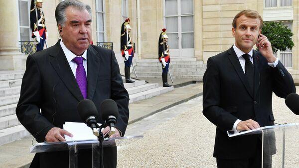 Эмомали Рахмон прибыл с официальным визитом во Францию - Sputnik Тоҷикистон