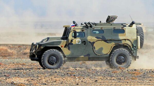 Бронеавтомобиль Тигр армии России на командно-штабных учениях ОДКБ - Sputnik Таджикистан