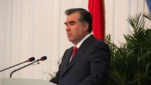 Президент Таджикистана Эмомали Рахмон. Архивное фото - Sputnik Таджикистан