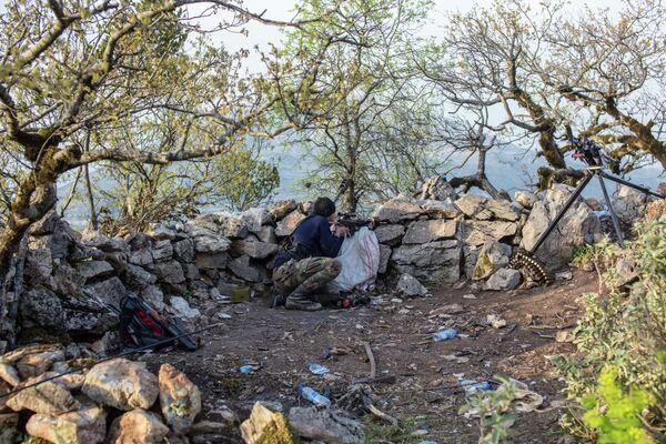 Снайпер в Сирии. Архивное фото - Sputnik Таджикистан