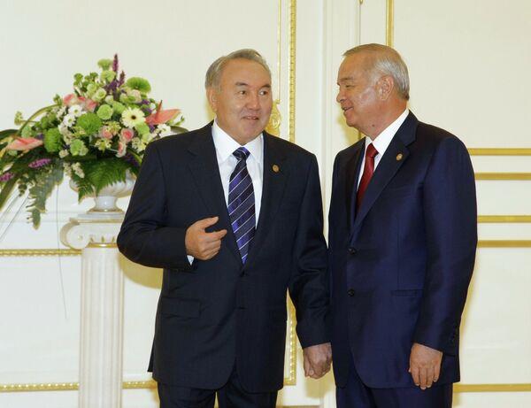 Нурсултан Назарбаев, Ислам Каримов. Архивное фото - Sputnik Таджикистан