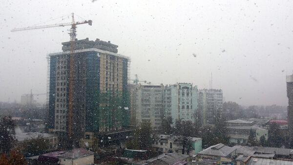 Снег в Душанбе. Архивное фото - Sputnik Таджикистан