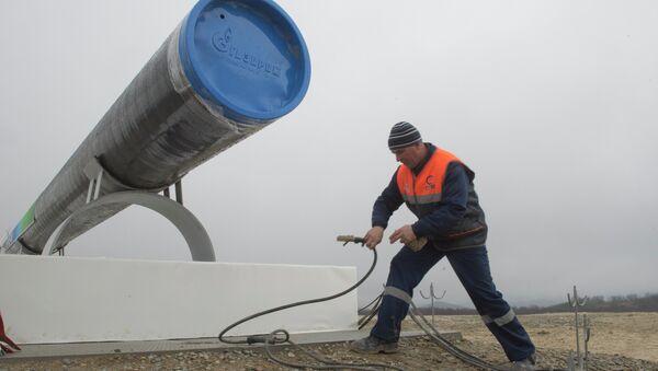 Начало строительства газопровода Южный поток, архивное фото - Sputnik Таджикистан