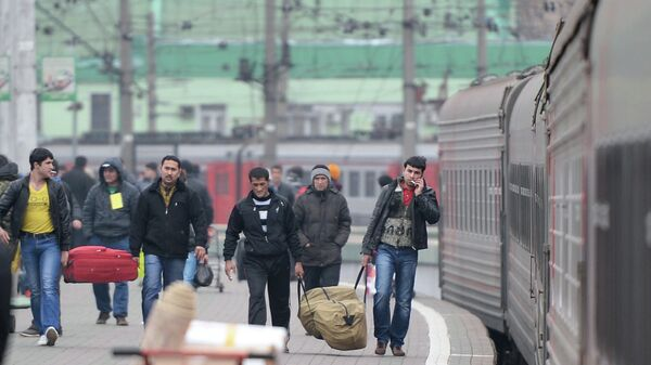 Прибытие поезда. Архивное фото - Sputnik Таджикистан