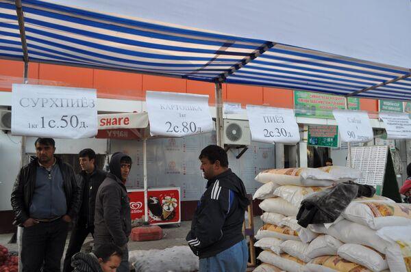 Цены на столичном базаре Дехкон в начале декабря 2014 г. - Sputnik Таджикистан