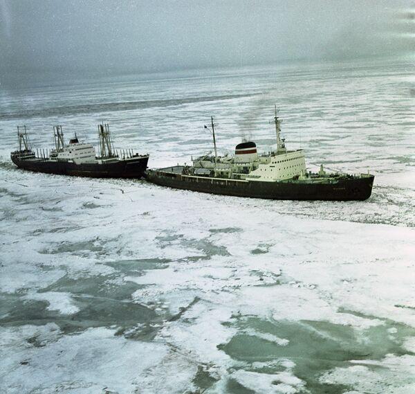Корабли в Арктике. Архивное фото - Sputnik Таджикистан