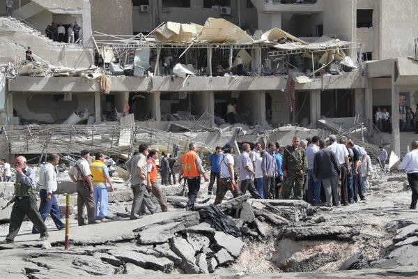 Последствия теракта в Дамаске. Архивное фото - Sputnik Таджикистан