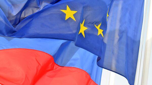 Флаги России и ЕС. Архивное фото - Sputnik Таджикистан