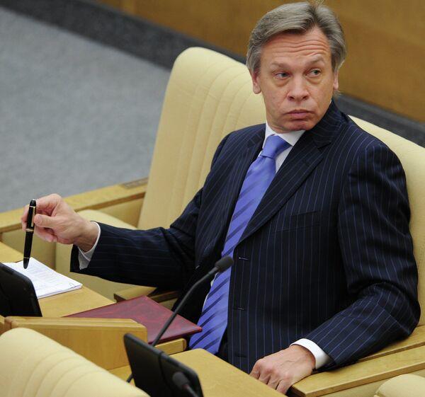 Председатель комитета ГД по международным делам Алексей Пушков. Архивное фото - Sputnik Таджикистан