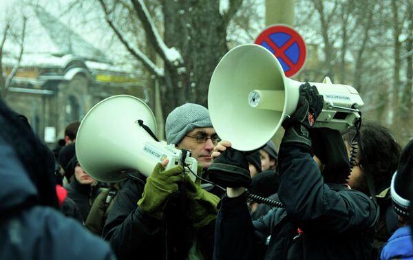 На демонстрации. Архивное фото - Sputnik Таджикистан