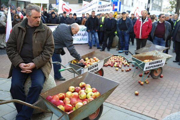 Акция протеста фермеров и садоводов Польши прошла в Варшаве - Sputnik Таджикистан