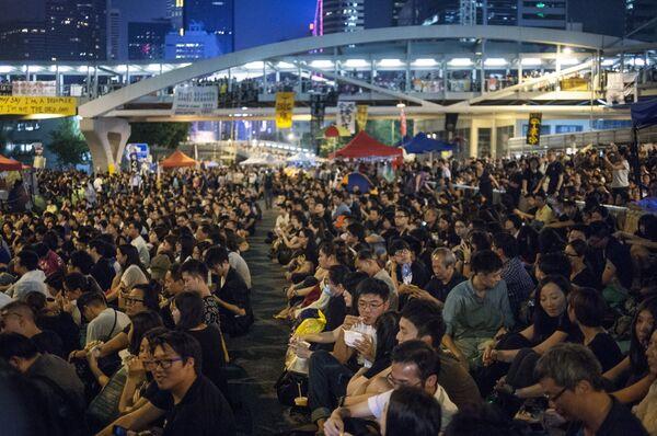 Акция протестов Occupy Central в Гонконге. Архивное фото - Sputnik Таджикистан