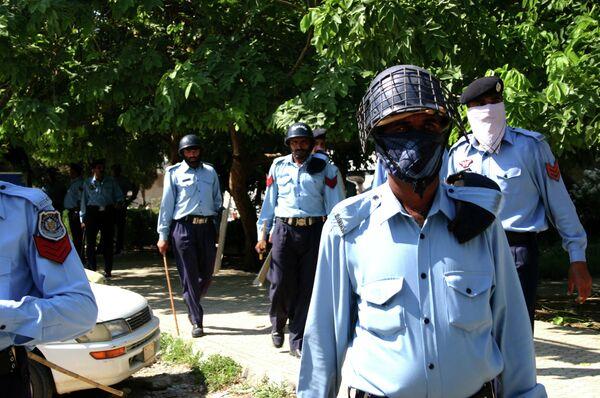Силы правопорядка в Исламабаде. Архивное фото - Sputnik Таджикистан