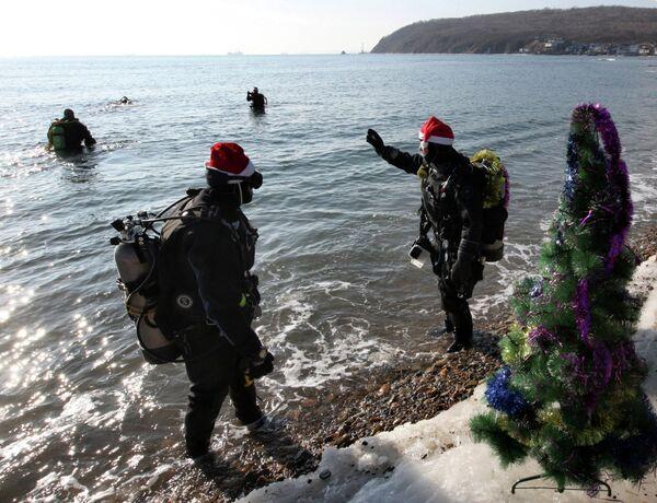 Владивостокские дайверы отметили Новый год под водой. Архивное фото. - Sputnik Таджикистан