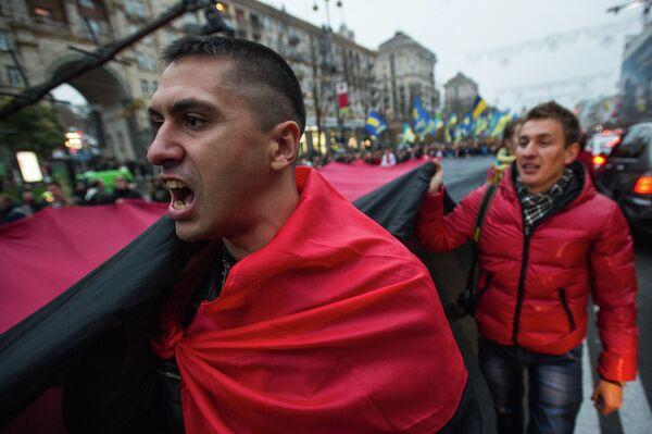 Марш в честь дня образования Украинской Повстанческой армии прошел в Киеве - Sputnik Таджикистан