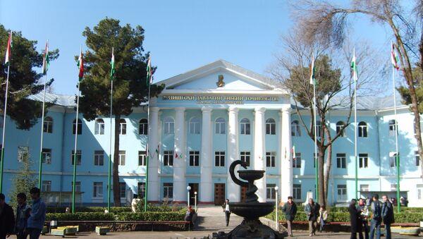 Здание ТГМУ в Душанбе. Архивное фото - Sputnik Таджикистан