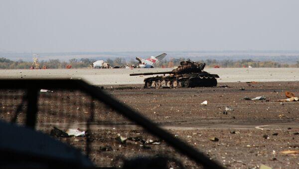 Ситуация в районе аэропорта Донецка. Архивное фото - Sputnik Таджикистан