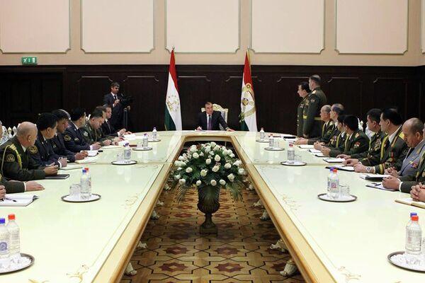 Президент Таджикистана произвел кадровые изменения в силовых структурах Таджикистана. Пресс-служба президента РТ - Sputnik Таджикистан