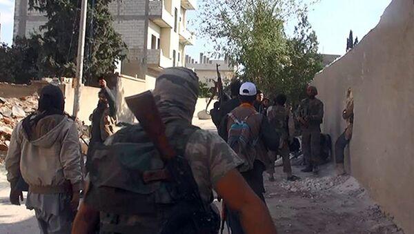 Боевики ИГ в Сирии, архивное фото - Sputnik Таджикистан