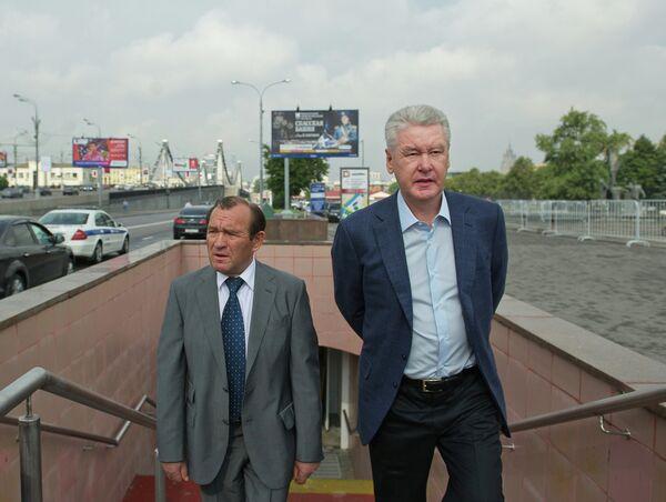 Петр Бирюков и Сергей Собянин. Архивное фото - Sputnik Таджикистан