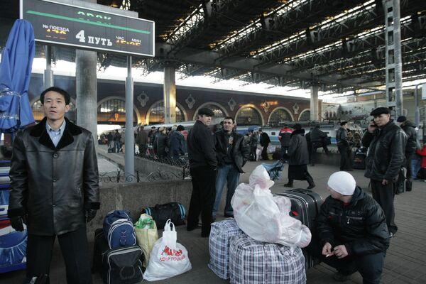 Казанский вокзал в Москве. Архивное фото - Sputnik Таджикистан