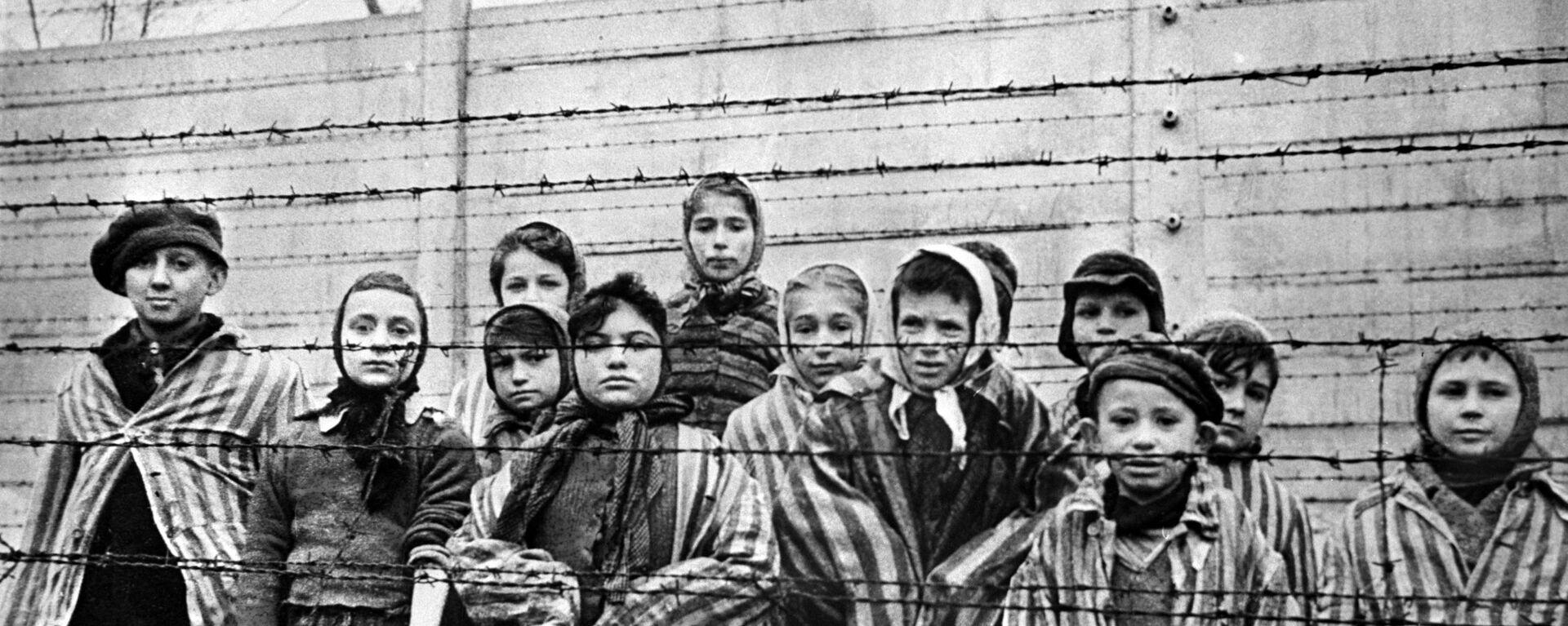 Дети из концентрационного лагеря Освенцим. Архивное фото. - Sputnik Таджикистан, 1920, 24.01.2020