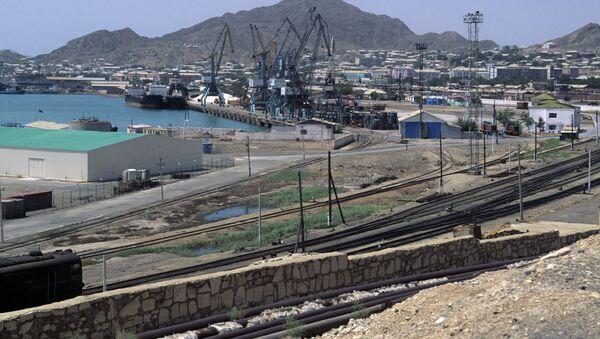 Город-порт Туркменбаши. Побережье Каспийского моря. Архивное фото - Sputnik Таджикистан