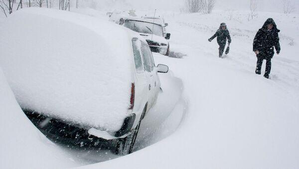 Сильный снегопад в Петропавловске-Камчатском. Архивное фото - Sputnik Таджикистан