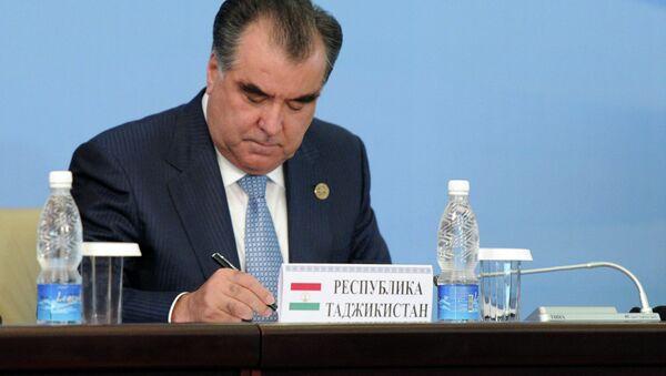 Президент Таджикистана Эмомали Рахмон. Архивное фото - Sputnik Тоҷикистон
