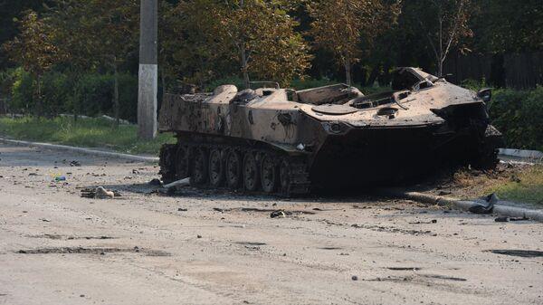 Уничтоженная бронетехника украинской армии. Архивное фото - Sputnik Тоҷикистон