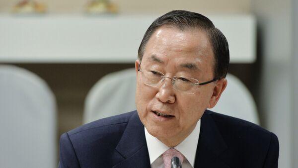 Генеральный секретарь ООН Пан Ги Мун посетил РИА Новости - Sputnik Таджикистан
