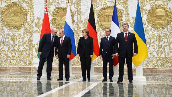 Переговоры лидеров России, Германии, Франции и Украины в Минске - Sputnik Таджикистан