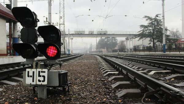 Участок железнодорожного пути, архивное фото - Sputnik Таджикистан