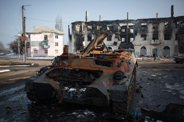 Ситуация в Донецкой области. Архивное фото - Sputnik Таджикистан