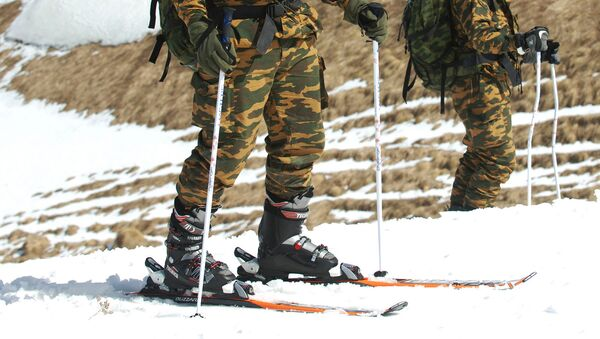 Военный на лыжах. Архивное фото - Sputnik Таджикистан