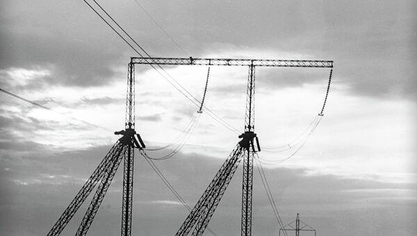Линия электропередачи, архивное фото - Sputnik Таджикистан