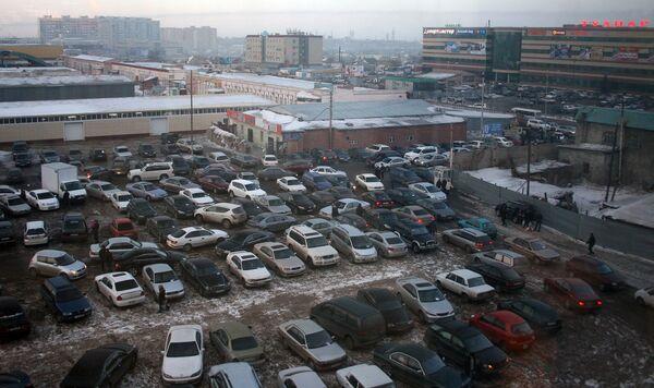 Автостоянка в Астане. Архивное фото - Sputnik Таджикистан