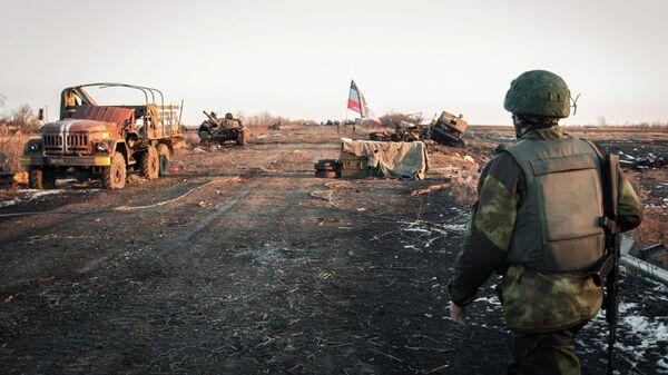 Ситация в поселке Логвиново на Донбассе. Архивное фото. - Sputnik Таджикистан